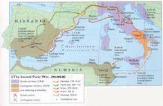 The routes that the Roman general Publius Cornelius Scipio Africanus (He got the…