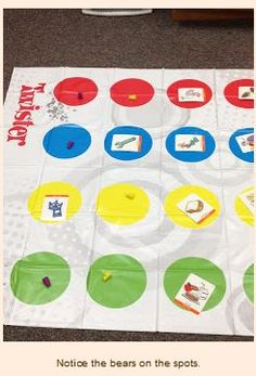 Therapy Idea of the Week: Articulation Twister - Pinned by – Please Visit for all our pediatric therapy pins. Need: Twister game, notecards with picture of that phoneme sound Articulation Therapy, Articulation Activities, Speech Therapy Activities, Language Activities, Speech Pathology, Speech Language Pathology, Speech And Language, Receptive Language, Therapy Games