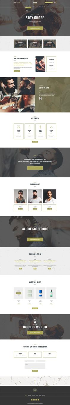 Trueman WordPress Theme Has Modern And Functional Design Created Especially  For Barber Shop Or Hair Salon. With Lots Of Powerful Features You Can  Create A ...