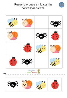 Divertidos sudokus infantiles para jugar en casa Activities For 5 Year Olds, Toddler Learning Activities, Infant Activities, Kindergarten Activities, Teaching Kids, Fun Worksheets For Kids, Math For Kids, Cute Powerpoint Templates, Brain Teasers For Kids