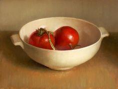 Stilleven met tomaten, 30x40cm, 2009. SOLD
