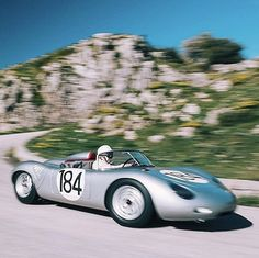 WEBSTA @ petrolicious - Derek Bell tearing up the Targa Florio track in 718 for our film Vintage Sports Cars, Retro Cars, Vintage Cars, Porsche 550, Porsche Cars, Porsche Classic, Old Race Cars, Cars And Motorcycles, Cool Cars