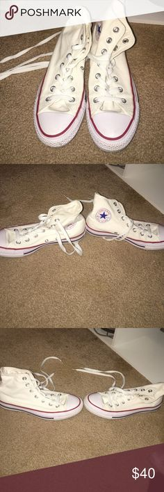 White High Top Converse Women's size 7 white converse. Never worn. Converse Shoes Sneakers