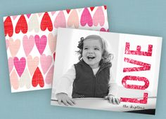 Valentine's Day Card Ideas - Featured Favorite. Beautiful photo + Awesome Card = Happy Family and Recipients :)