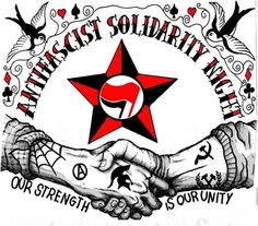 Our Strength is Our Unity Revolution Tattoo, Skinhead Tattoos, Refugees, Propaganda Art, Rage Against The Machine, Riot Grrrl, Anti Racism, Constellations, Tattoo Inspiration