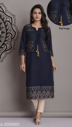 Kurtis & Kurtas Women's Printed Rayon Kurti Fabric: Rayon Sleeves: Sleeves Are Included Size: S - 36 in   M - 38 in   L - 40 in   XL - 42 in   XXL - 44 in  Length: Up To 46 in  Type: Stitched Description: It Has 1 Piece Of Women's Kurti Work: Printed Sleeve length :Long Sleeves Country of Origin: India Sizes Available: S, M, L, XL, XXL   Catalog Rating: ★4.2 (18474)  Catalog Name: Women Printed Rayon Kurtis CatalogID_418701 C74-SC1001 Code: 933-3059851-
