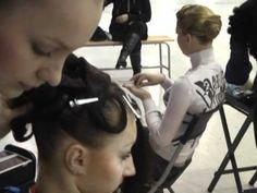 Ballroom hairstyle semi- start to finish