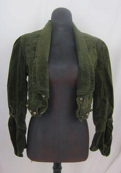 Steampunk Olive Green Bolero Jacket By Deep Los Angeles SM Excellent Condition #ByDeepLosAngeles #BoleroShrug