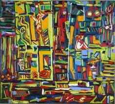 Komposition mit Frauenakten in den Räumen Painting, Art, Book Binding, Musical Composition, Arts And Crafts, Idea Paint, Artworks, Abstract, Art Production