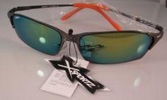 Awesome Wrap Style Sunglasses Green Mirror Lens Silver Frame #xsportz #Wrap