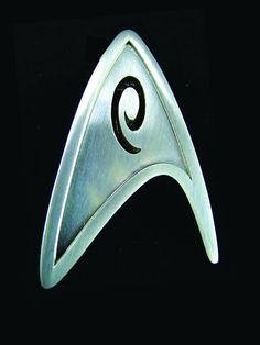 Star Trek Starfleet Science Division Badge Prop Replica is an exact replica of the uniform insignia from Star Trek, cast in metal and hand-burnished. New Star Trek Movie, Star Trek Movies, Star Trek Insignia, Uniform Insignia, Star Trek Merchandise, Star Trek Collectibles, Uss Enterprise, For Stars, New Movies