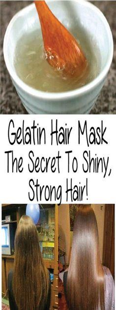 #health #beauty #hair #haircare #hairmask #naturalremedie #recipe #gelatin #secret #stronghair