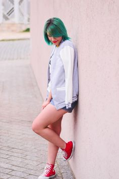 Camiseta raglan do Mickey, shorts e all star // Cute Outfit by Jess Vieira