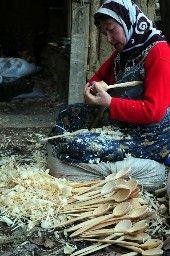 wooden spoon (Saruhanlar village, Kütahya city, Türkiye)