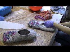 Видеозарисовка с мастер-класса по валянию тапочек. Студия Felt4Fun, Москва, 2014