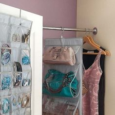 21 More Practical Bag Storage Ideas - Shelterness Closet Storage, Diy Storage, Storage Ideas, Storage Solutions, Handbag Storage, Handbag Organizer, Ideas Prácticas, Fotos Ideas, Ideas Para Organizar