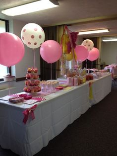"Young Women in Excellence ""Sweet is the Work of Personal Progress"" pink themed ""Sweet Shop"" refreshments."