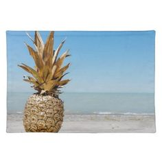 Pineapple on the Beach Cloth Napkin - home gifts ideas decor special unique custom individual customized individualized Beach Signs, Special Gifts, Fun Gifts, Home Gifts, Holiday Fun, Pineapple, The Incredibles, Diy Funny, Instagram