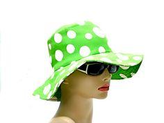 Ladies Vintage Floppy Hat Polka Dots circa 1960s by SueEllensFlair