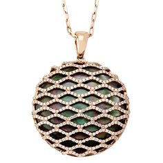If I can find the inexpensive version of this, I'd be set! | Frederic Sage Black Mother of Pearl Lace Pendant