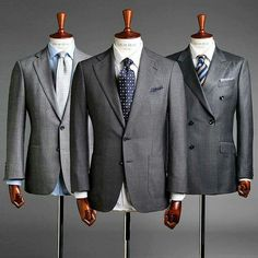 The grey suit is perfectly versatile for all year round. Wear with white or softer coloured shirts and let your accessories reflect the season/occasion! Modern Gentleman, Gentleman Style, Grey Suit Men, Grey Suit White Shirt, Mens Suit Colors, Suit Combinations, Gentlemen Wear, Mens Fashion Suits, Suit And Tie