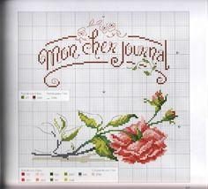 "Photo from album ""Mon journal au point de croix"" on Yandex. Cross Stitch Books, Cross Stitch Needles, Cross Stitch Heart, Cute Cross Stitch, Cross Stitch Flowers, Cross Stitch Designs, Cross Stitch Patterns, Cross Stitching, Cross Stitch Embroidery"