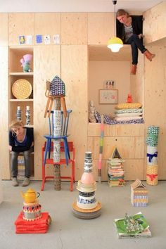 fresh ideas for Rumpus Room- love how simple plywood can look clean, modern, and friendly all at once Hester & Jantien Tas-ka Plywood Interior, Deco Kids, Build A Closet, Kid Spaces, Kidsroom, Kids Decor, Decor Ideas, Built Ins, Boy Room