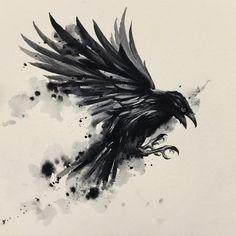 Tribal Tattoos, Hand Tattoos, Black Crow Tattoos, Grey Ink Tattoos, Black Bird Tattoo, Elephant Tattoos, Body Art Tattoos, Crow Art, Raven Art