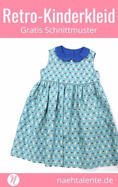 Freebook - cute children's dress with Peter Pan collar ❤ for 5 - 7 years ❤ PDF for printing ❤ easy for beginners ✂️ sewing talent - the magazine for hobby tailors with a pattern database ✂️ Free sewing pattern for a vintage dress for little girls Sewing Patterns Free, Free Sewing, Free Pattern, Sewing Dress, Sewing Clothes, Vestidos Vintage, Robes Vintage, Vintage Dresses, Sewing Hacks