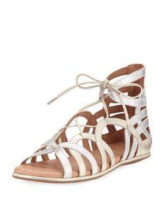1427d96712 Gentle Souls Break My Heart Flat Gladiator Sandal, Multi Leather Gladiator  Sandals, My Heart