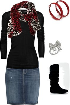 """""""Red"""" by classy92120 ❤ liked on Polyvore love the scarf"""