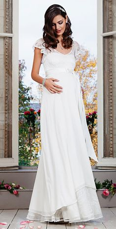 5a24bccc5e33d Juliette Maternity Gown (Ivory) by Tiffany Rose White Dress, Formal Dresses,  Fashion