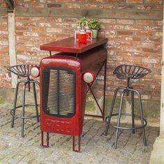 Industrial Heritage Tractor Table, Red