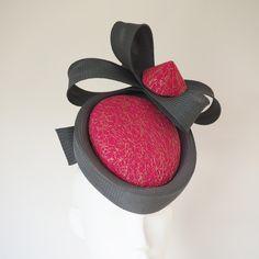 bb1ce0642a7 Genevieve - Grey   Pink sculptural designer hat