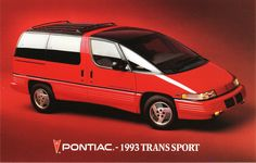 Pontiac Trans Sport - a lte entrant to the minivan trend that tried to make a spectacular entrance. Memorable for all the wrong reasons. Old American Cars, American Auto, Chevrolet Lumina, Pontiac Cars, Car Brochure, Motor Engine, Car Advertising, Custom Vans, Cars