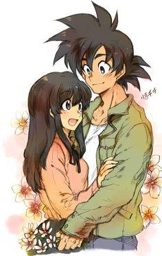 Goku and Chi Chi #DBZ