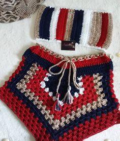 Crochet Backpack Pattern, Crochet Pants, Crochet Top Outfit, Crochet Crop Top, Cute Crochet, Crochet Clothes, Crochet Lace, Crochet Bikini, Crochet Projects