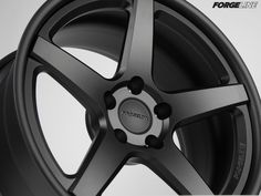 While most of our customers choose a combination of finishes for their 3pc wheels, this CF3C Concave wheel was ordered entirely in the Matte Black powder coat, including the center, inner, and outer. Even the valve stem is Matte Black. Learn more about the CF3C at: http://www.forgeline.com/products/concave-series/cf3c-concave.html