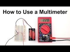 This video will show you how to use a multimeter to measure voltage, current, resistance, and continuity. This is a beginner's guide aimed at students and el. Electronics Basics, Hobby Electronics, Electronics Projects, Science Fair Projects, Science Lessons, Computer Robot, Home Electrical Wiring, Nanotechnology, Shop Plans