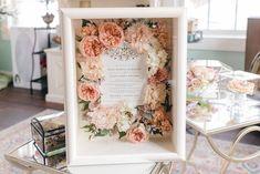 Bridal bouquet shadow box of preserved wedding bouquet flowers. Bouquet Shadow Box, Bouquet Box, Flower Shadow Box, Diy Shadow Box, Flower Bouquet Wedding, Wedding Shadow Boxes, Bouquet Flowers, Perserving Flowers, Freeze Dried Flowers
