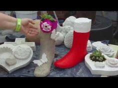 DIY - Beton giessen - Betonstiefel / Stiefel aus Beton giessen - YouTube