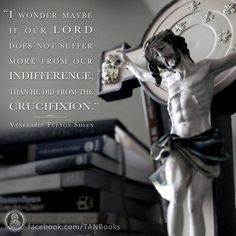 our Lord suffers from indifference Venerable Fulton Sheen Catholic Quotes, Catholic Prayers, Catholic Saints, Religious Quotes, Roman Catholic, John Corapi, Fulton Sheen, Les Religions, Saint Quotes
