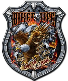 style vintage logo Embl/ème Harley Davidson 55 x 42 cm insigne artistique en bois