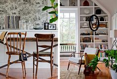 A beautiful mix of vintage chairs by Emily Henderson.