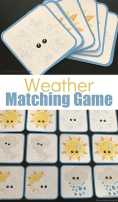 Free Printable Weather Matching Game For Preschoolers..