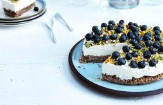 Cheesecake med blåbær & pistacienødder