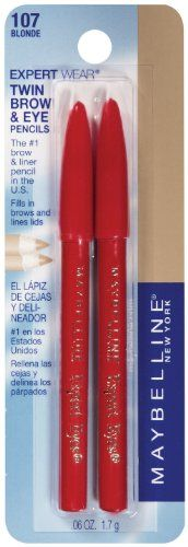 Maybelline New York Expert Wear Twin Brow and Eye Pencils, 107 Blonde, 0.06 Ounce $2.99