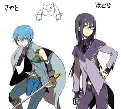 Genderbend Sayaka and Homura