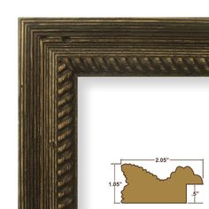 """34% Off was $31.99, now is $20.99! 12x16 Picture / Poster Frame, Wood Grain Finish, 2.125"""" Wide, Weathered Brown (77845900)"""