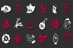 photoshop christmas shapes